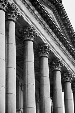 Illinois Capitol Columns BW by Steve Gadomski