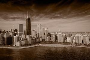 Lakeshore Chicago BW by Steve Gadomski