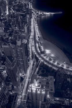 Lakeshore Drive Aloft BW Cool Toned by Steve Gadomski