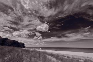 Lighthouse Beach Evanston IL BW by Steve Gadomski