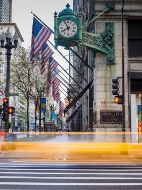 Marshall Field Clock Chicago by Steve Gadomski