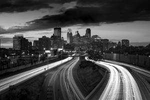 Minneapolis M N Skyline BW by Steve Gadomski