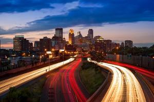Minneapolis MN Skyline by Steve Gadomski