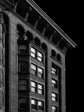 Monadnock Building Cornice Chicago BW by Steve Gadomski