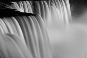 Niagara Falls Illuminations Number 2 BW by Steve Gadomski