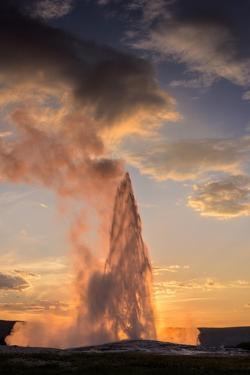 Old Faithful Yellowstone by Steve Gadomski