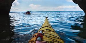 Sea Cave Kayaking Apostle Islands National Lakeshore by Steve Gadomski