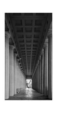 Soldier Field Colonnade Chicago BW by Steve Gadomski