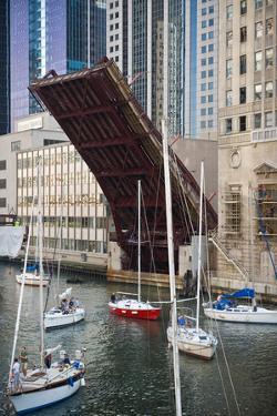 Washington Street Bridge Lift Chicago by Steve Gadomski