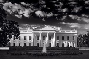 White House Sunrise B W by Steve Gadomski