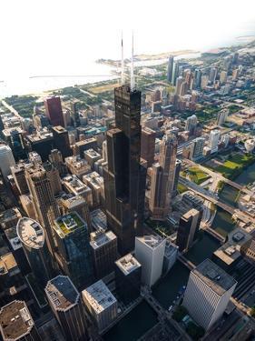 Willis Tower Chicago Aloft by Steve Gadomski