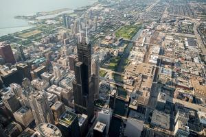 Willis Tower Southwest Chicago Aloft by Steve Gadomski
