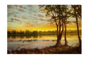 Sunrise On The Columbia by Steve Henderson