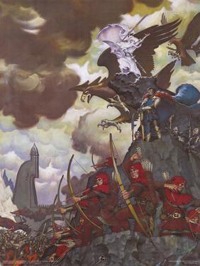 Battle Before the Gate (Gandalf on Gwaihir) by Steve Hickman