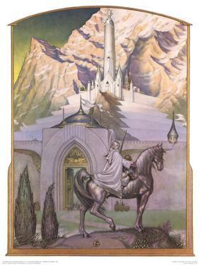 Citadel at Sunrise (Gandalf approaching Minas Tirith) by Steve Hickman