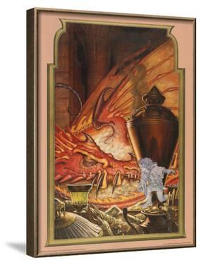 Invisible Thief (Bilbo and Smaug) by Steve Hickman