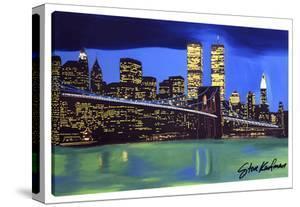 Brooklyn Bridge Night by Steve Kaufman