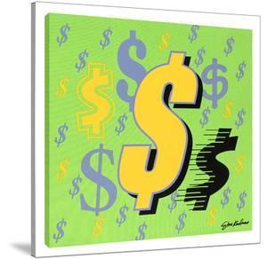 Dollar Sign #5 by Steve Kaufman