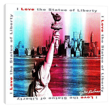 i love statue of liberty stretched canvas print by steve kaufman at