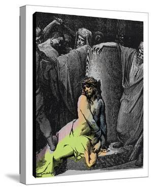 Jesus In Thorns B by Steve Kaufman