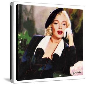 Marilyn In Beret by Steve Kaufman