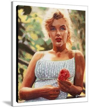 Marilyn With A Flower by Steve Kaufman