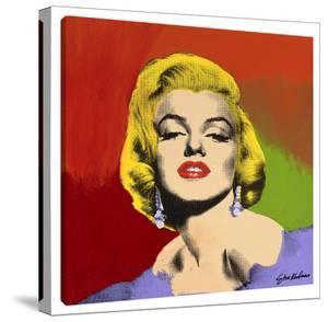 Marilyn With Earrings #3 by Steve Kaufman
