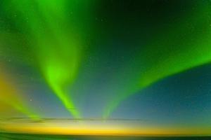 Northern Lights over the Sea, Beaufort Sea, ANWR, Alaska, USA by Steve Kazlowski