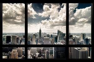 View of Manhattan, New York from Window by Steve Kelley