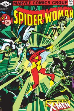 Spider-Woman No.38 Cover: Spider Woman, Colossus, Juggernaut, Angel, Storm and X-Men by Steve Leialoha