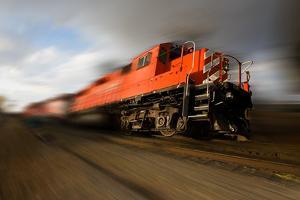 Speeding Locomotive by Steve mc