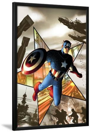 Captain America No.1 Cover: Captain America Jumping