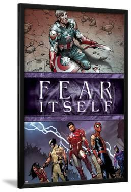 Fear Itself No.6 Cover: Captain America, Iron Man, Spider-Man, Wolverine, Spider Woman and Hawkeye by Steve MCNiven