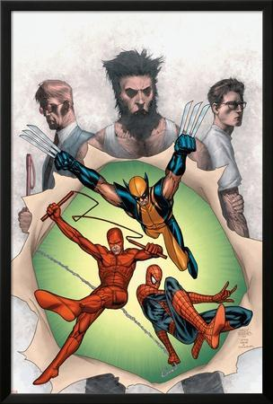 Powerless No.6 Cover: Wolverine, Daredevil, Matt Murdock, Spider-Man, Peter Parker, Logan