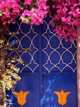 Blue Doors and Bougainvillea, Koskinou Village, Rhodes, Dodecanese Islands, Greece
