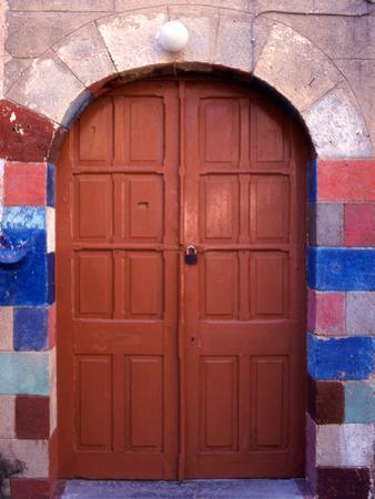 Old Brown Wooden Door, Rhodes, Dodecanese Islands, Greece by Steve Outram