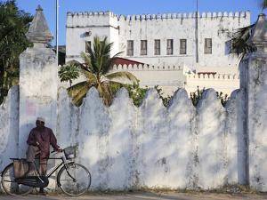 Zanzibari Man and His Bicycle, Stone Town, Zanzibar, Tanzania by Steve Outram