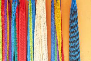 Mexico, Jalisco. Colorful Hammocks Sold by Street Vendors by Steve Ross