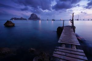 Evening Shot in Cala D'Hort with View to Isla De Es Vedra, Ibiza, Spain by Steve Simon