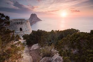 View to Isla De Es Vedra, Sunset, Ibiza, Spain by Steve Simon