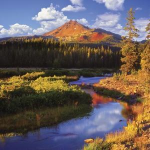 Broken Top Mountain and Fall Creek by Steve Terrill