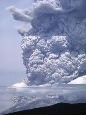 Mount St. Helens Erupting by Steve Terrill