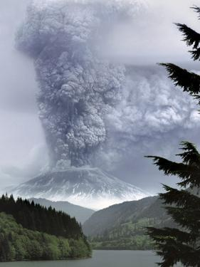 Mount St. Helens Eruption by Steve Terrill