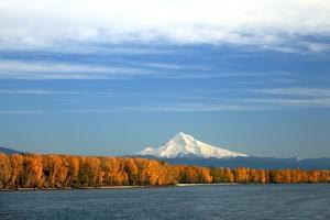Mt. Hood and Columbia River by Steve Terrill