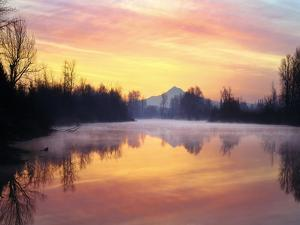 Mt. Hood Reflection at Sunrise by Steve Terrill