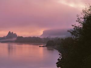 Oregon, Columbia River Gorge. Fog Along Columbia River by Steve Terrill