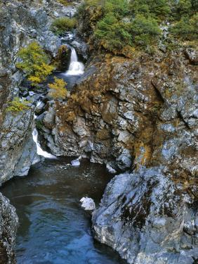 USA, Oregon. Stair Creek Falls Along the Rogue River by Steve Terrill