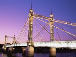 Albert Bridge, Chelsea, London, England by Steve Vidler