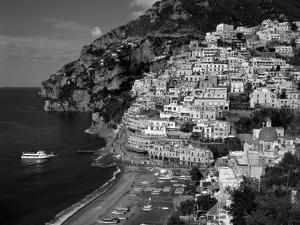 Amalfi Coast, Coastal View and Village, Positano, Campania, Italy by Steve Vidler