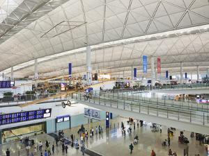 China, Hong Kong, Interior of Hong Kong International Airport by Steve Vidler